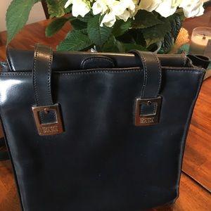 Francesco Biasia handbag dark navy soft leather